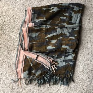 J Crew camouflage scarf